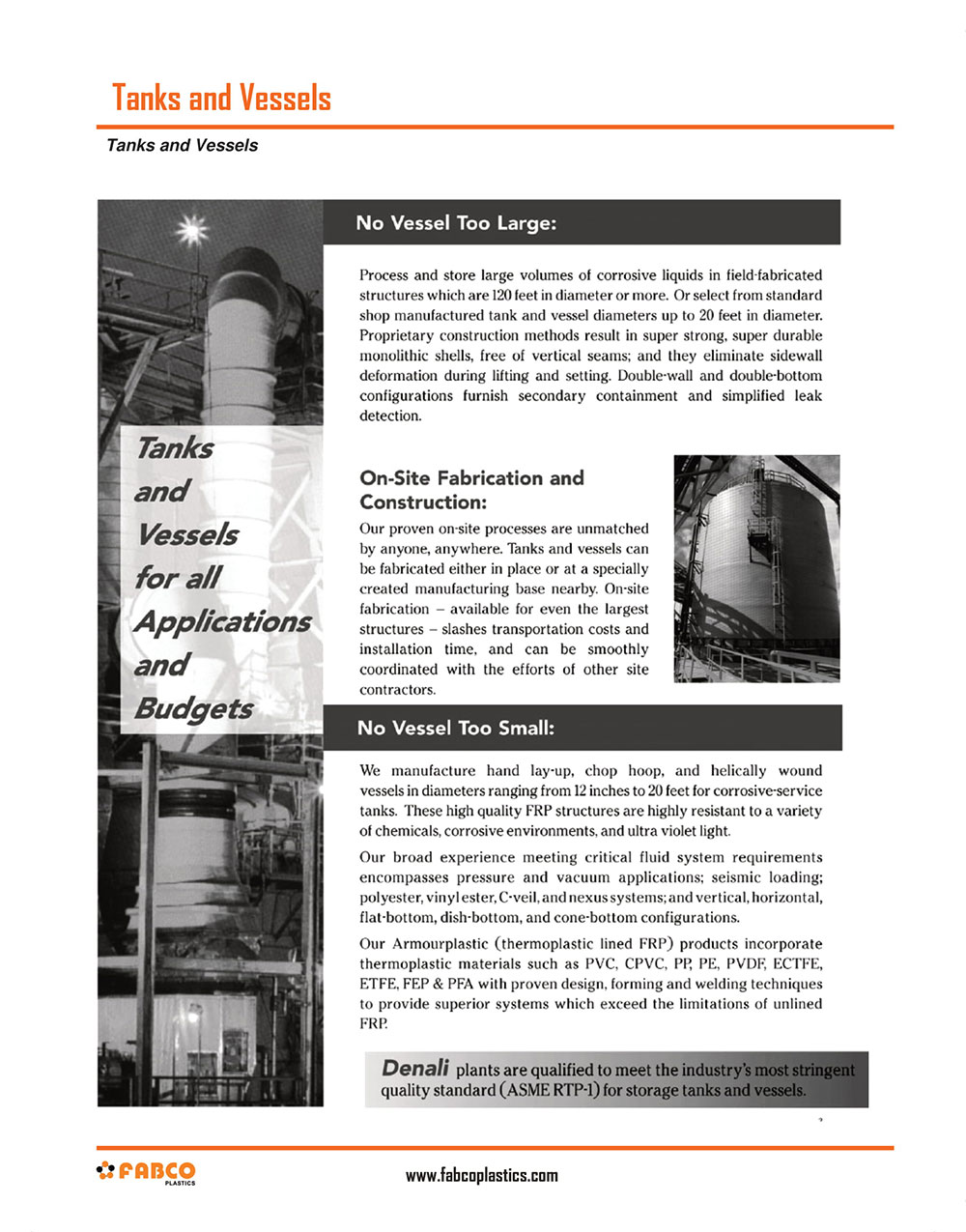 FRP Tanks and Vessels