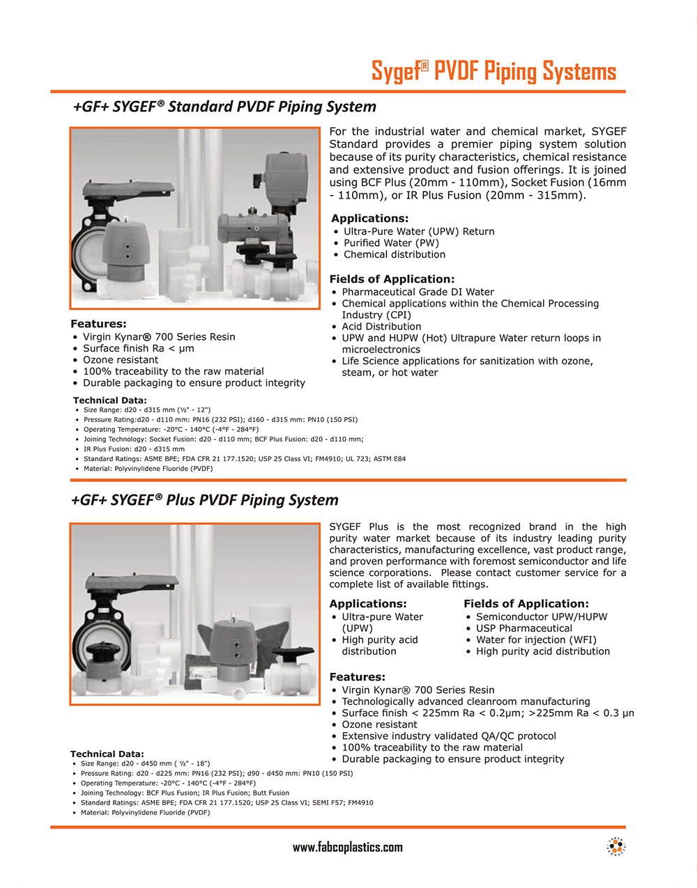 Sygef PVDF Piping Systems