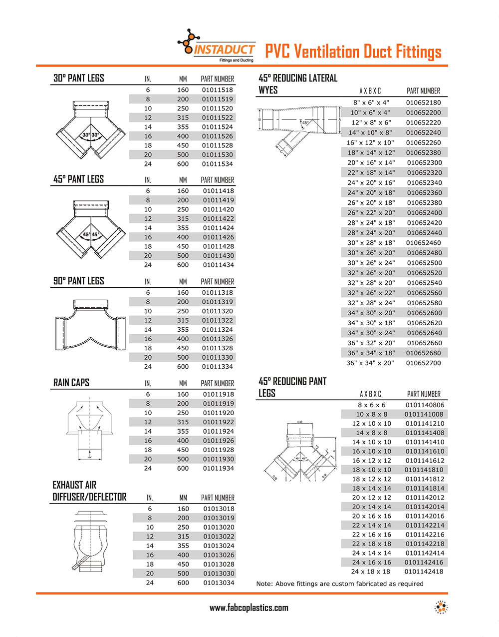 PVC Ventilation Fittings