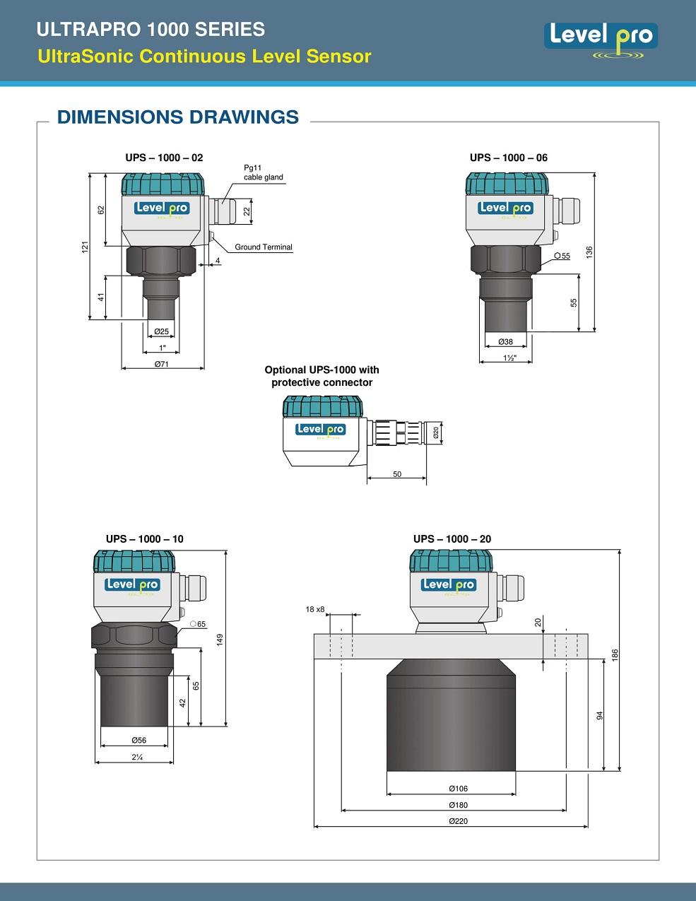 ULTRAPRO 1000 UltraSonic Continuous Level Sensor