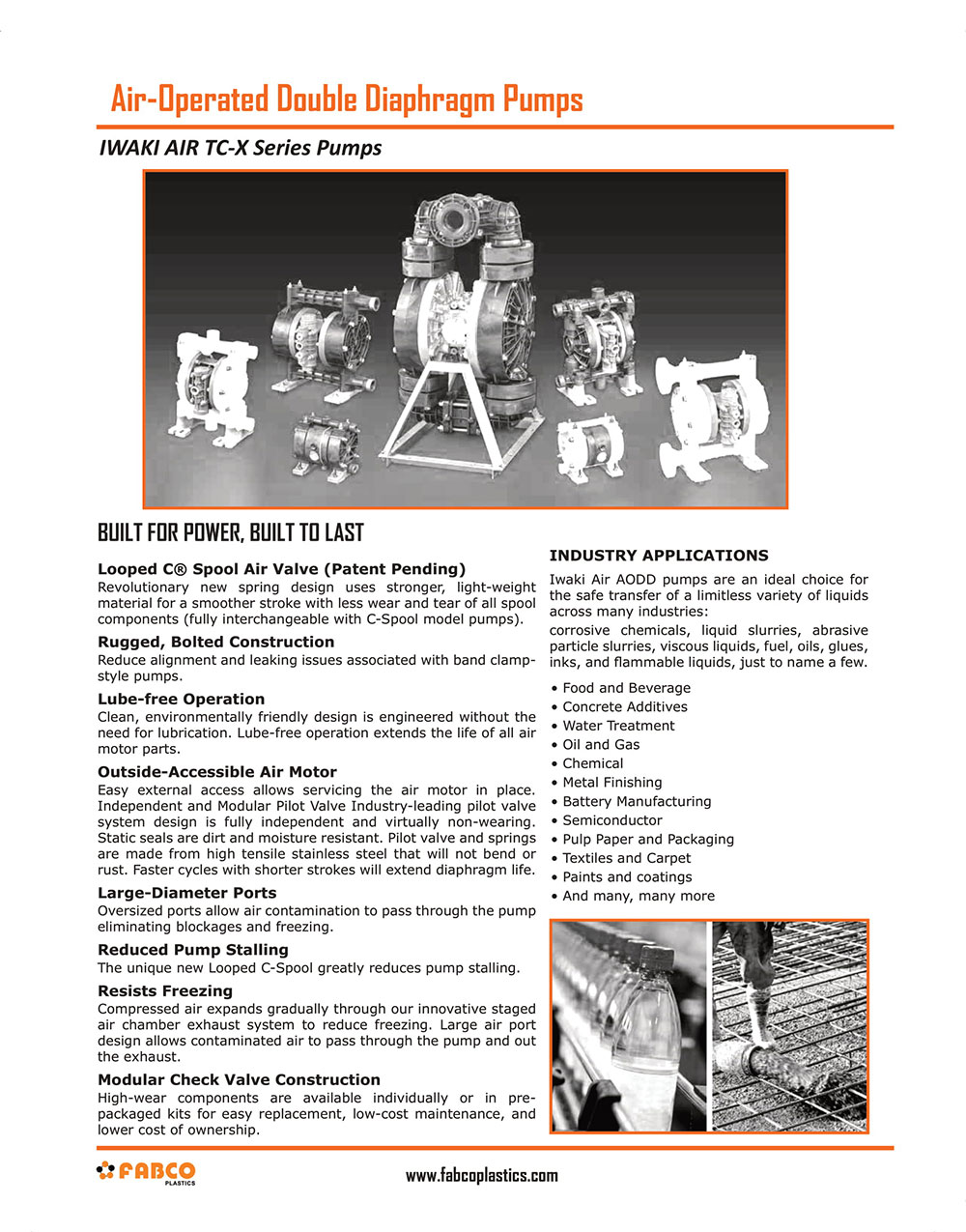 AODD - (Air-Operated Double Diaphragm Pumps)