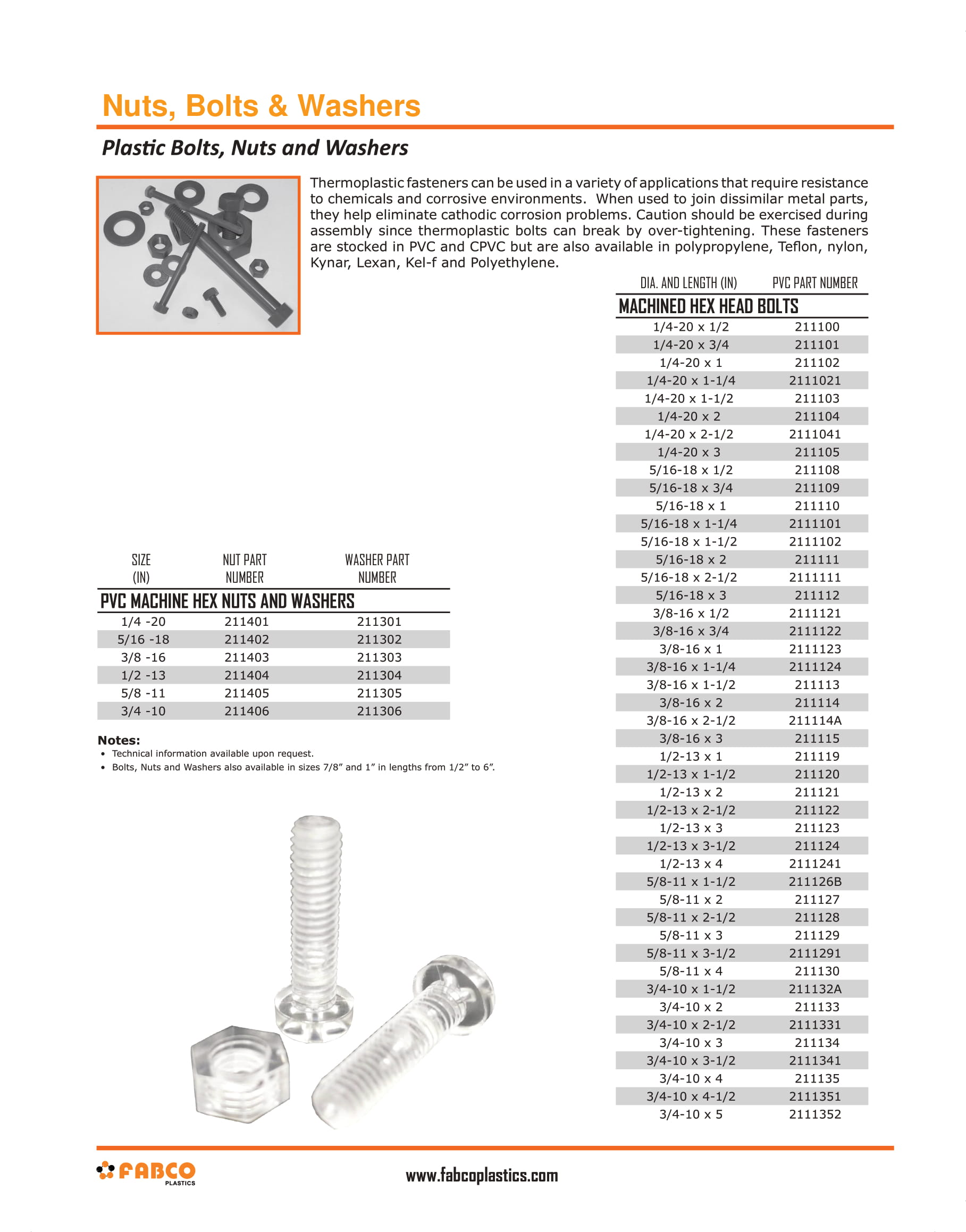 FRP Nuts & Bolts
